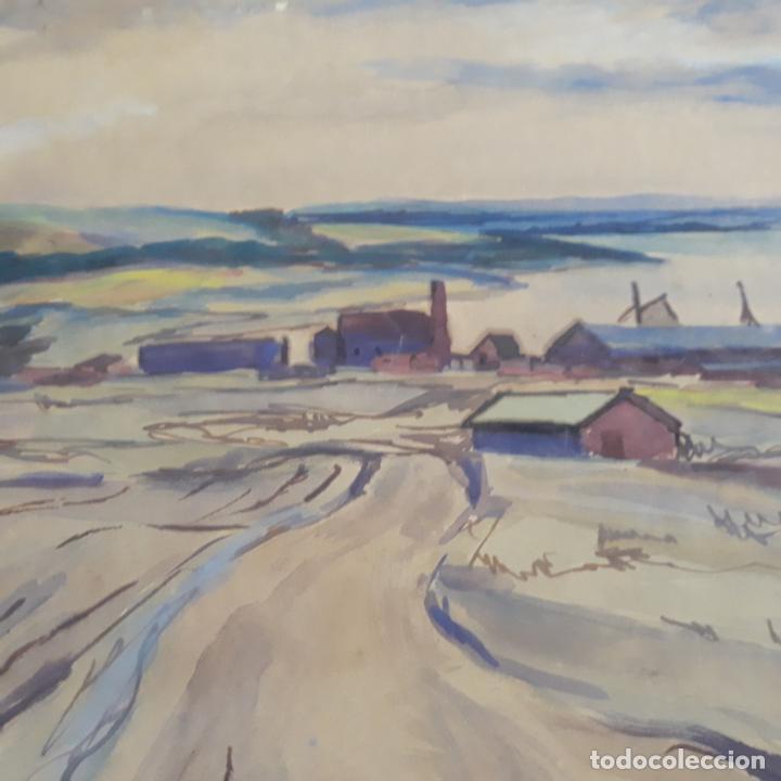 Arte: acuarela firmada alfred braendgaard-andersen - Foto 4 - 197857882