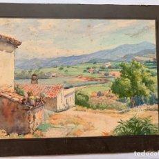 Arte: PAU SABATÉ JAUMÀ - PAISAJE. Lote 197957378