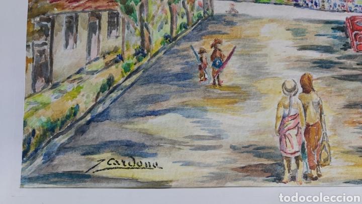 Arte: ACUARELA DE JOAN CARDONA AÑOS 40 - Foto 2 - 198041401