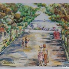 Arte: ACUARELA DE JOAN CARDONA AÑOS 40. Lote 198041401