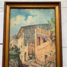 Arte: ANTONI FUSTÉ BANÚS. ANTONI FUSTER I BANÚS * RINCÓN DE UN PUEBLO. Lote 198062450