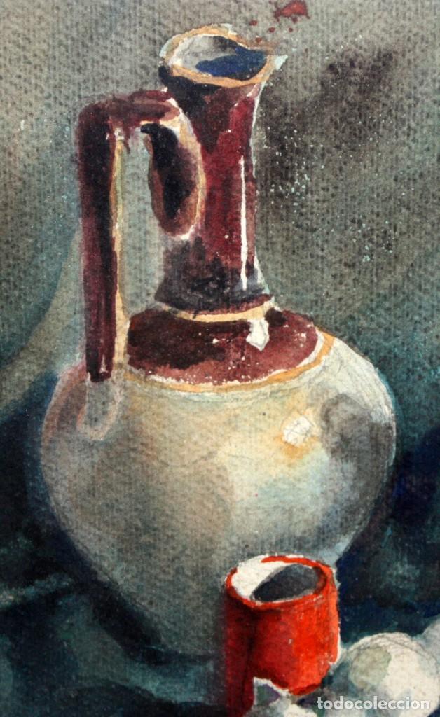 Arte: FIRMADO ABELLO. ACUARELA SOBRE CARTULINA DE LOS AÑOS 60. BODEGON - Foto 3 - 198068517