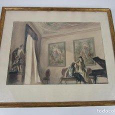Arte: BONITA ACUARELA - ALFRED OPISSO (BARCELONA 1907- MATARÓ 1980). Lote 198122575