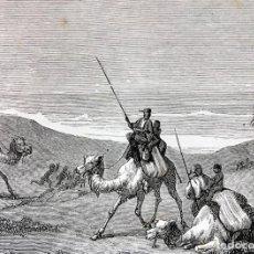 Arte: GRABADO 1856 - CÓMO SON CAZADOS LOS NEGROS - 240X159 MM - ORIGINAL. Lote 198138518