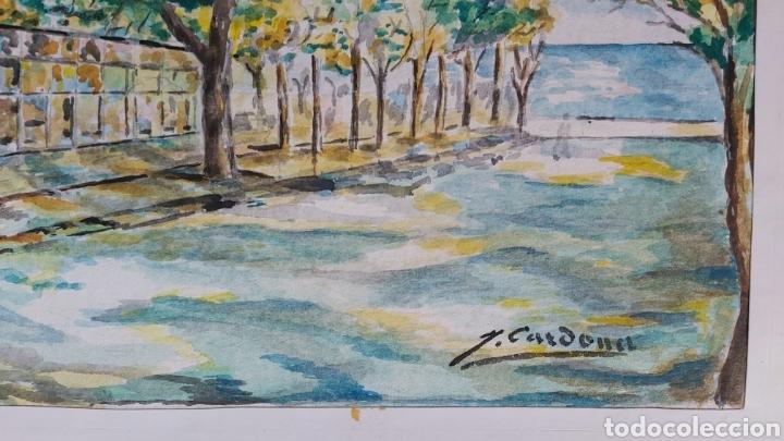 Arte: ACUARELA DE JOAN CARDONA AÑOS 40 - Foto 3 - 198161166