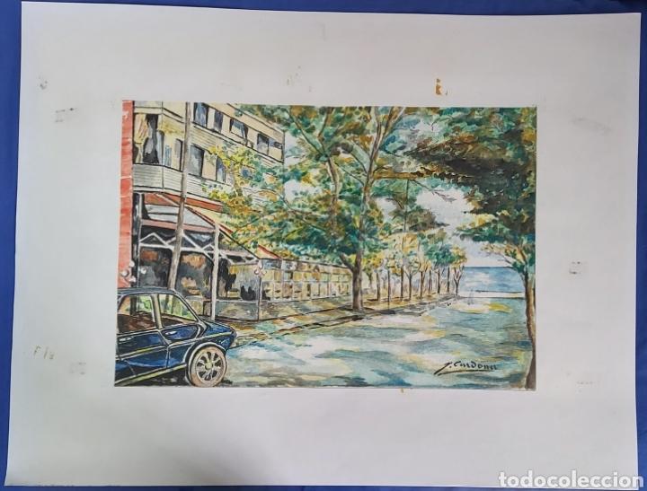 Arte: ACUARELA DE JOAN CARDONA AÑOS 40 - Foto 4 - 198161166