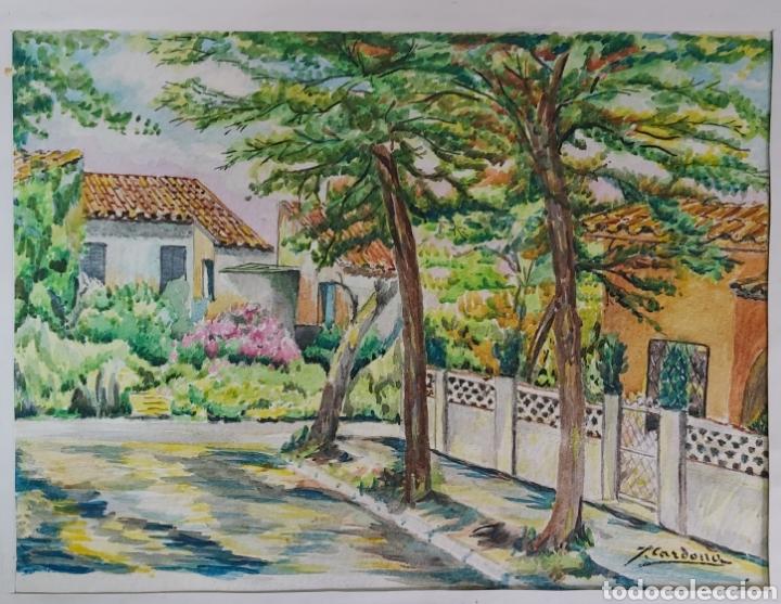 Arte: ACUARELA DE JOAN CARDONA AÑOS 40 - Foto 2 - 198161248