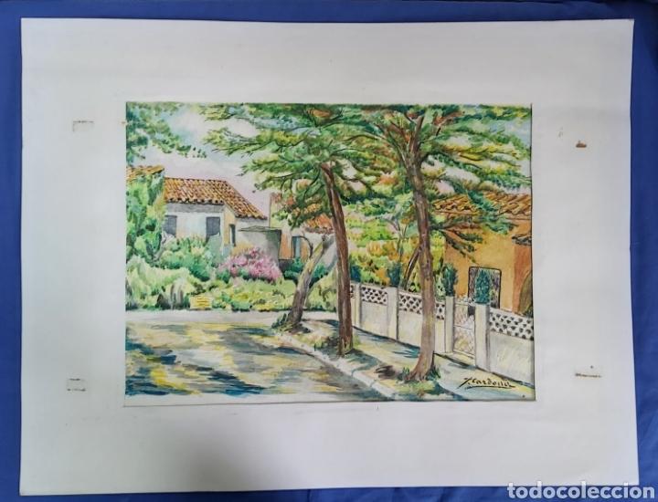 ACUARELA DE JOAN CARDONA AÑOS 40 (Arte - Acuarelas - Contemporáneas siglo XX)
