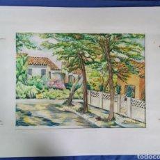 Arte: ACUARELA DE JOAN CARDONA AÑOS 40. Lote 198161248
