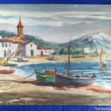 Arte: ANTIGUA ACUARELA DE J. VILLENA. Lote 198162117