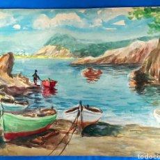 Arte: ANTIGUA ACUARELA DE J. VILLENA. Lote 198162372