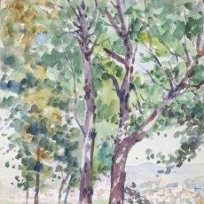 Arte: PAISAJE RURAL. ACUARELA SOBRE PAPEL. FIRMADO JULIAN DEL POZO Y LA ORDEN. 1930. . Lote 198406546