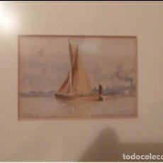 Arte: MARINA DE SALVADOR ABRIL VELERO , ACUARELA, OPORTUNIDAD, ÚNICA. Lote 198595553