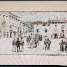 Arte: 1891 - LABARTA - PLAZA DE CENTELLES - REPRODUCCIÓN. Lote 198632272