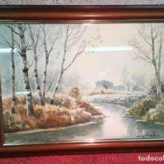 Arte: ANTIGUO CUADRO / ACUARELA PINTADA POR EL PINTOR MIQUEL DORIA . Lote 198836888