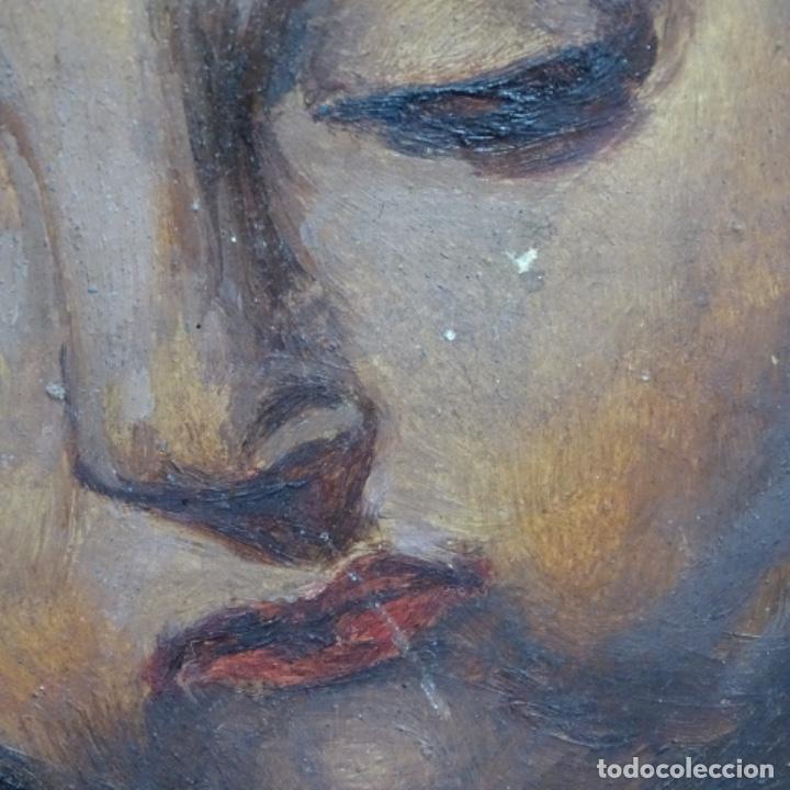 Arte: Oleo de Emilio estrella suazo( principios de s.xx barcelona,ver rafols).excelente trazo. - Foto 5 - 199078357