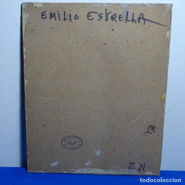 Arte: Oleo de Emilio estrella suazo( principios de s.xx barcelona,ver rafols).excelente trazo. - Foto 9 - 199078357