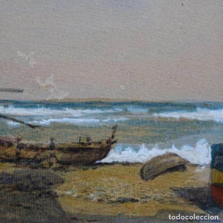 Arte: 2 Acuarelas de Emilio estrella suazo( principios de s.xx barcelona,ver rafols).excelente trazo. - Foto 5 - 199078866