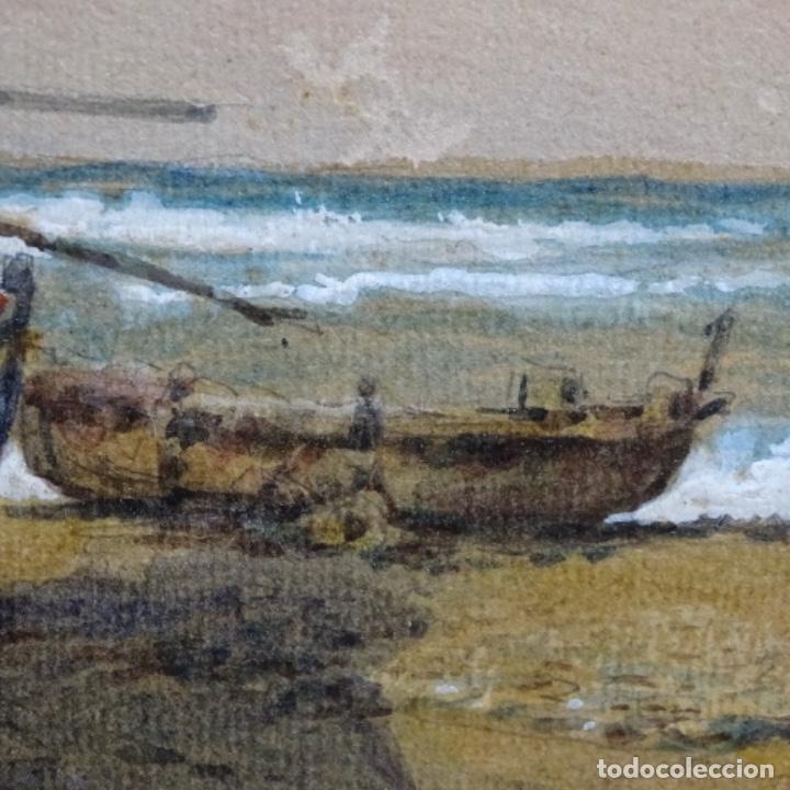 Arte: 2 Acuarelas de Emilio estrella suazo( principios de s.xx barcelona,ver rafols).excelente trazo. - Foto 7 - 199078866