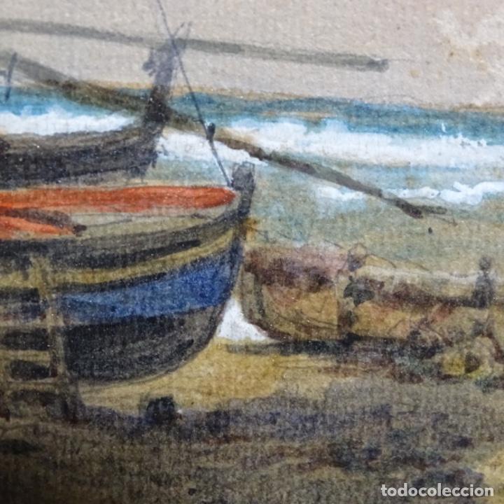 Arte: 2 Acuarelas de Emilio estrella suazo( principios de s.xx barcelona,ver rafols).excelente trazo. - Foto 9 - 199078866
