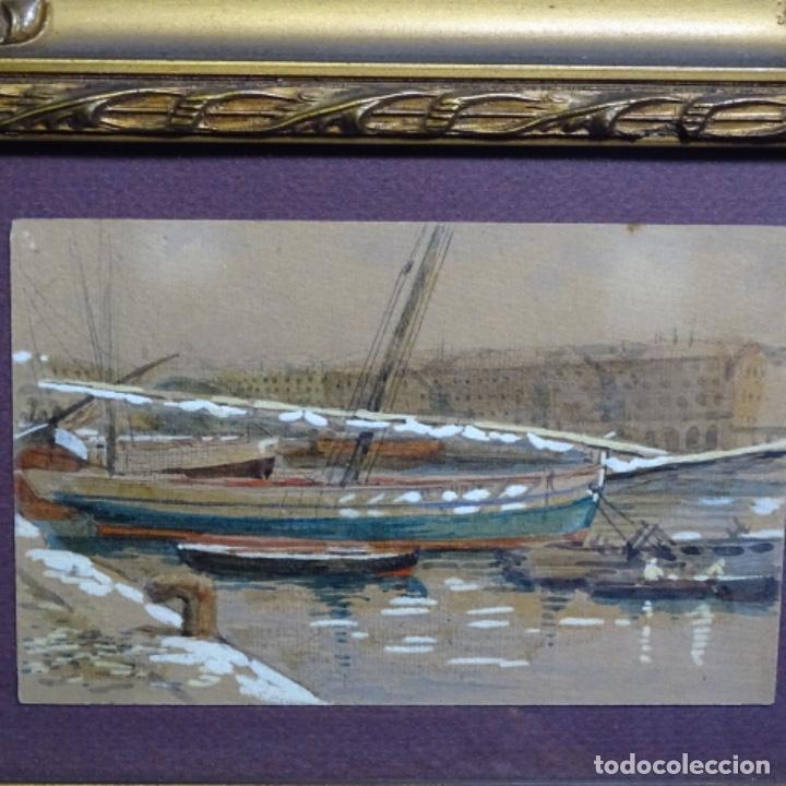Arte: 2 Acuarelas de Emilio estrella suazo( principios de s.xx barcelona,ver rafols).excelente trazo. - Foto 11 - 199078866
