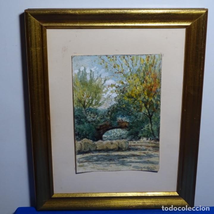 Arte: Acuarela de Emilio estrella suazo( principios de s.xx barcelona,ver rafols).excelente trazo.1919 - Foto 2 - 199079142