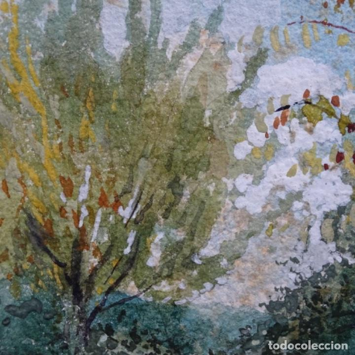 Arte: Acuarela de Emilio estrella suazo( principios de s.xx barcelona,ver rafols).excelente trazo.1919 - Foto 5 - 199079142