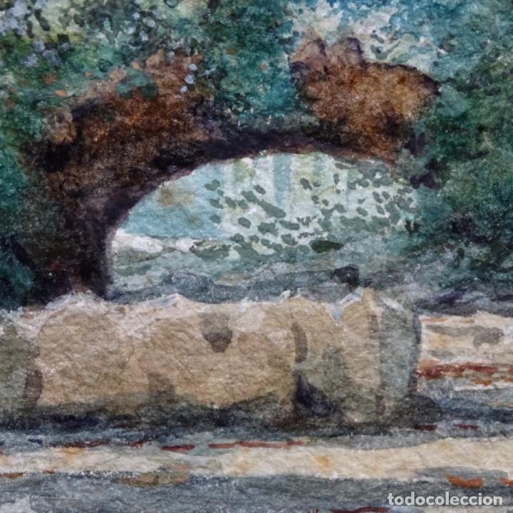 Arte: Acuarela de Emilio estrella suazo( principios de s.xx barcelona,ver rafols).excelente trazo.1919 - Foto 6 - 199079142