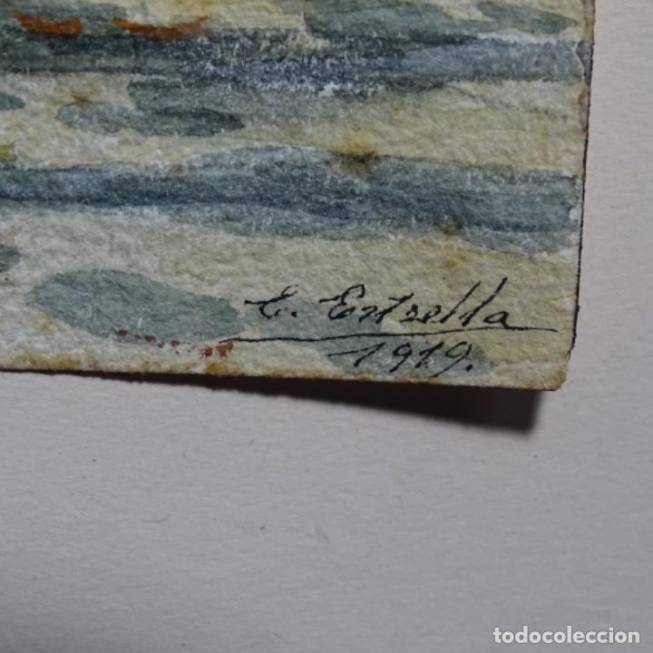 Arte: Acuarela de Emilio estrella suazo( principios de s.xx barcelona,ver rafols).excelente trazo.1919 - Foto 8 - 199079142