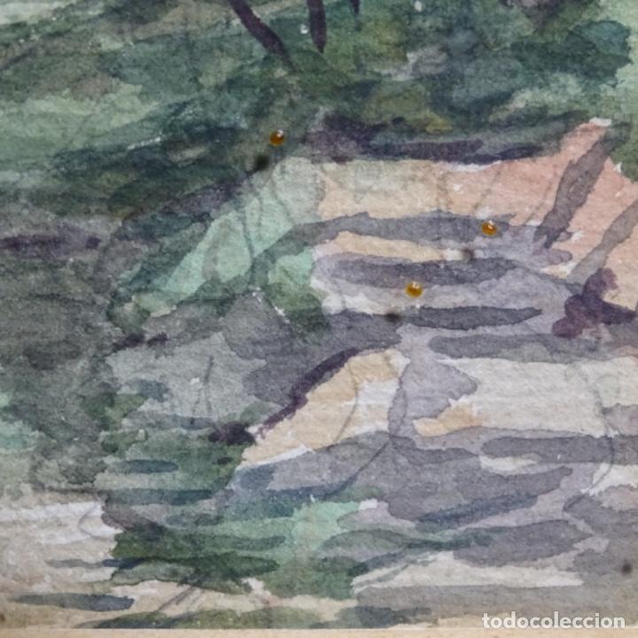Arte: Acuarela de Emilio estrella suazo( principios de s.xx barcelona,ver rafols).excelente trazo. - Foto 6 - 199079803