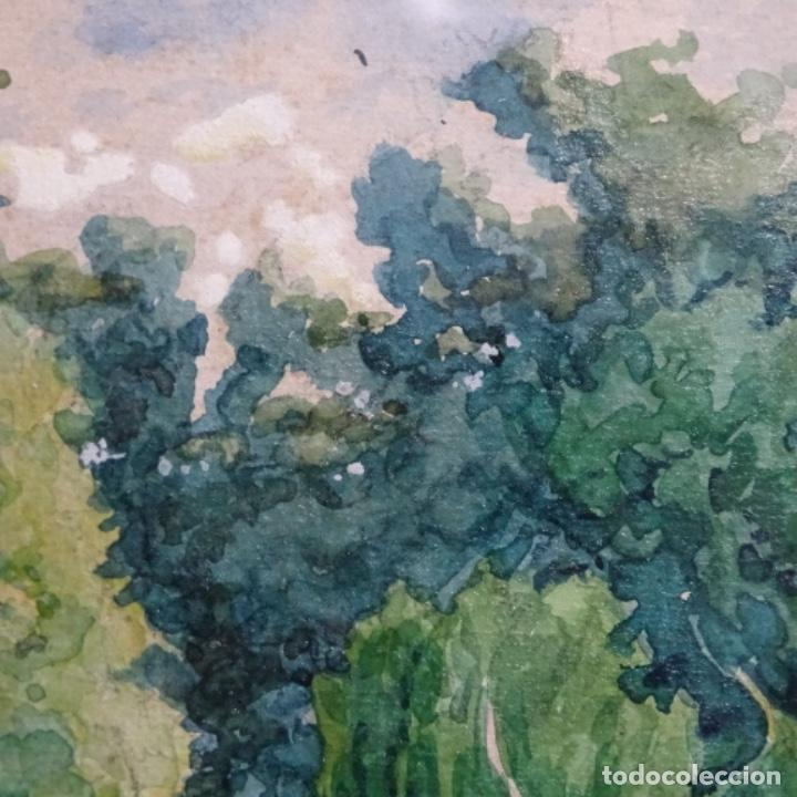 Arte: Acuarela de Emilio estrella suazo( principios de s.xx barcelona,ver rafols).excelente trazo. - Foto 4 - 199080216