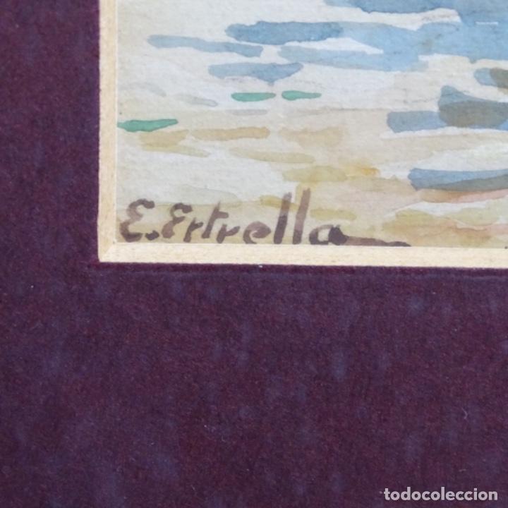 Arte: Acuarela de Emilio estrella suazo( principios de s.xx barcelona,ver rafols).excelente trazo. - Foto 7 - 199080216