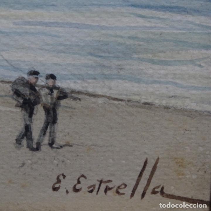 Arte: Acuarela de Emilio estrella suazo( principios de s.xx barcelona,ver rafols).excelente trazo. - Foto 6 - 199080591