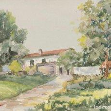 Arte: JOSÉ RAMÓN CASADEVANTE - PAISAJE - ACUARELA SOBRE PAPEL - 47X63CM. Lote 199105522