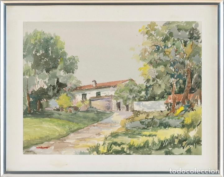 Arte: José Ramón Casadevante - Paisaje - Acuarela sobre papel - 47x63cm - Foto 2 - 199105522
