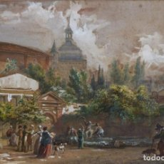 Arte: LÉON SOULIÉ (1804 - 1862) - VAGABUNDO Y PERSONAJES - ACUARELA.. Lote 199158085