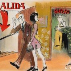 Arte: RAFAEL MUNOA (SAN SEBASTIÁN,1930 -2012) - SALIDA DEL TEATRO - 50 X 80 CMS.. Lote 199356062