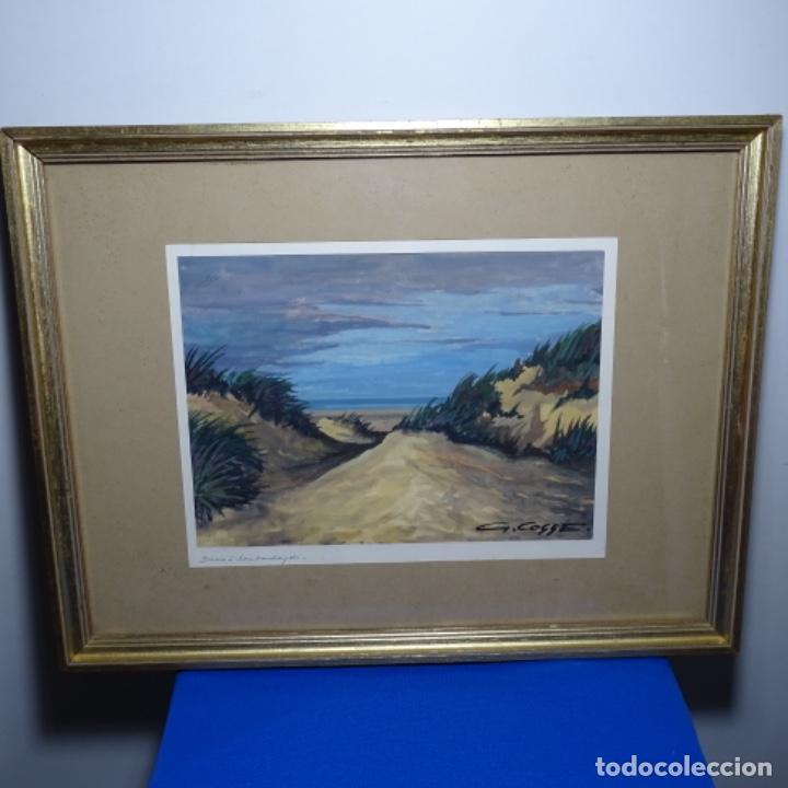 Arte: Temple-acuarela de George gosse.dunas a Lombardía. - Foto 2 - 199417937