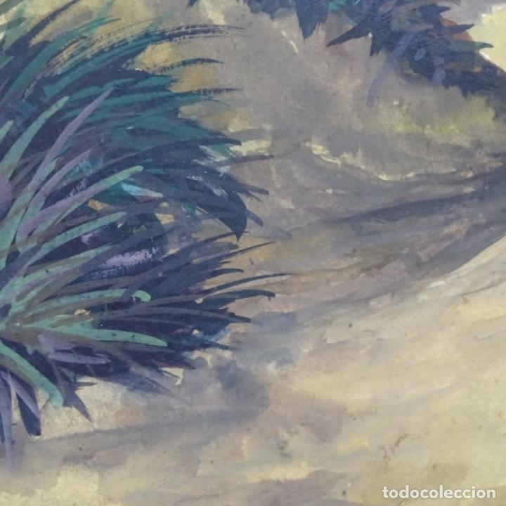 Arte: Temple-acuarela de George gosse.dunas a Lombardía. - Foto 5 - 199417937