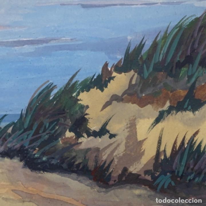 Arte: Temple-acuarela de George gosse.dunas a Lombardía. - Foto 6 - 199417937