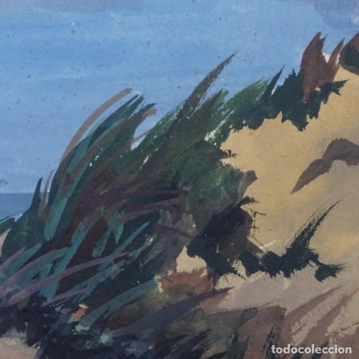 Arte: Temple-acuarela de George gosse.dunas a Lombardía. - Foto 7 - 199417937