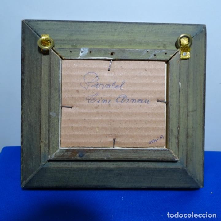 Arte: Excelente acuarela en miniatura anónima de barcelona.paralelo cine Arnau. - Foto 4 - 199678838