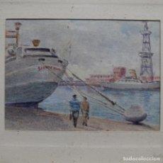 Arte: EXCELENTE ACUARELA EN MINIATURA ANÓNIMA DE BARCELONA.POR DE BARCELONA.. Lote 199678946