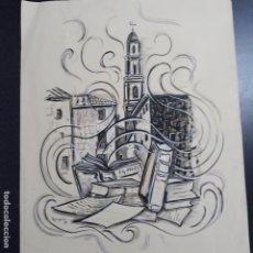 Arte: ACUARELA FIRMADA ROMAGUERA ,EDUARDO RAMAGUERA 1975,FECHADA EN 94. Lote 199868777