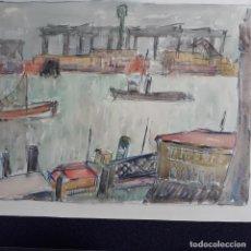 Arte: ACUARELA FIRMADA HESSELBACH,WILHELM HESSELBACH 1907-1960. Lote 199873240