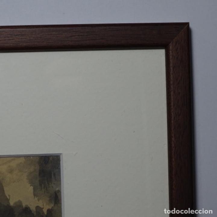 Arte: Bonita acuarela de floreal soriguera(pintor de Terrassa).suri.años 50-60.Paisaje nevado. - Foto 16 - 199889756