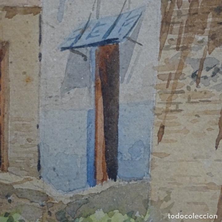 Arte: Excelente acuarela firmada Marin.vista del darro en granada. - Foto 14 - 199982108