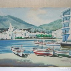 Arte: CADAQUES GIRONA - BELLA PINTURA ACUARELA FIRMADA. Lote 200074947