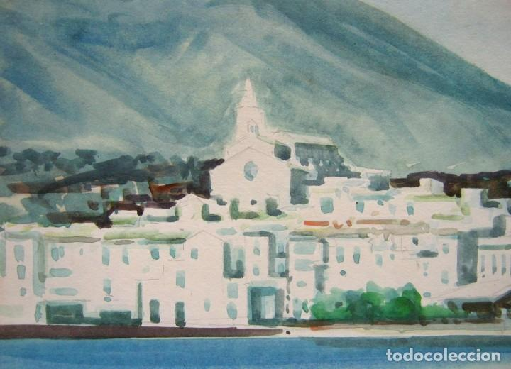 Arte: Cadaques Girona - Bella pintura acuarela firmada - Foto 3 - 200074947