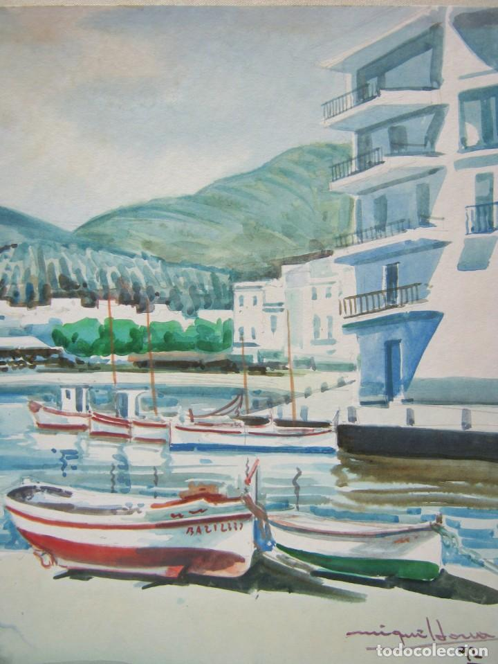 Arte: Cadaques Girona - Bella pintura acuarela firmada - Foto 5 - 200074947